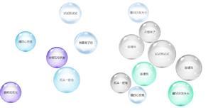 js气泡悬浮碰撞动画特效
