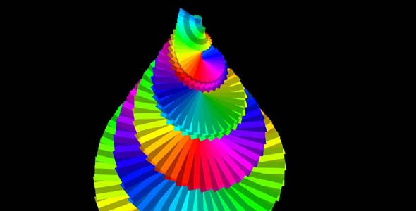 js+css3楼梯螺旋动画特效