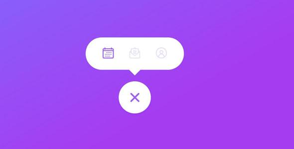 TweenMax+CSS3按钮菜单tab特效