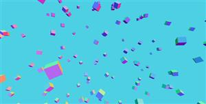 canvas炫酷3D浮动特效
