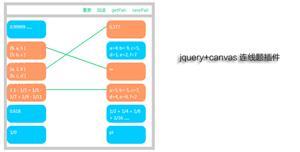 jquery+canvas连线题插件