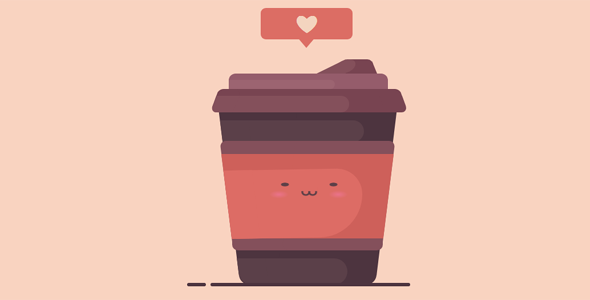 爱心咖啡杯纯css3动画特效