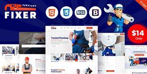 Bootstrap4管道维修公司网站模板HTML页面