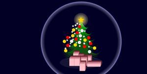 css3圆球里的圣诞树特效