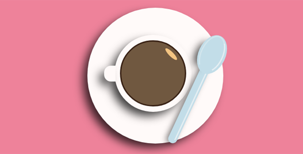 css代码绘制的咖啡样式