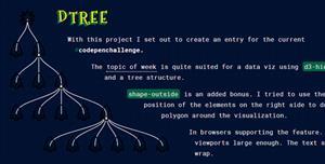 d3.js多级树特效
