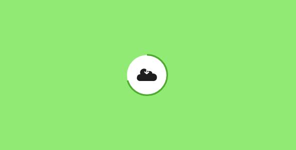 云下载按钮svg加载动画特效