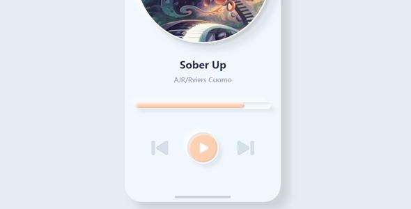漂亮的svg音乐播放器UI界面代码