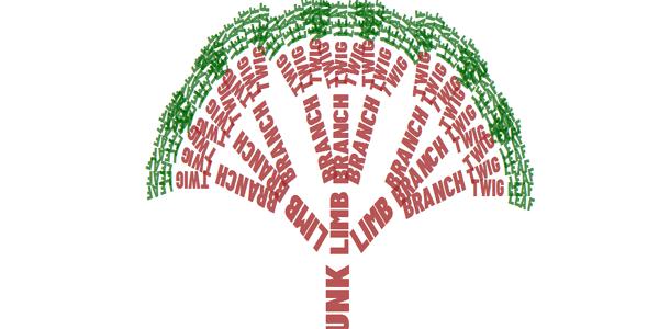 文字组成的树样式css特效