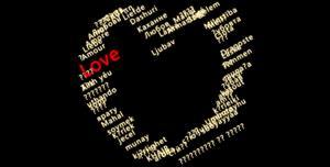 css3文字组成爱心动画特效