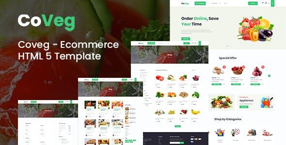 HTML5果蔬电商购物网站模板