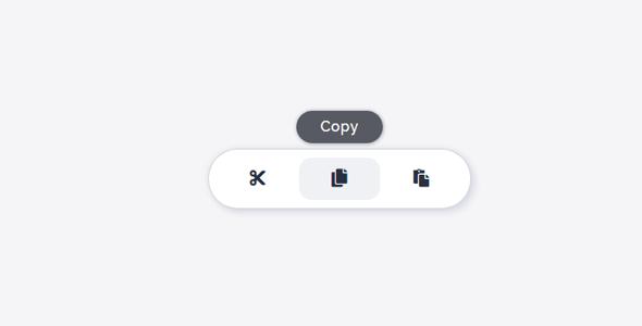 js工具栏悬浮提示文字特效