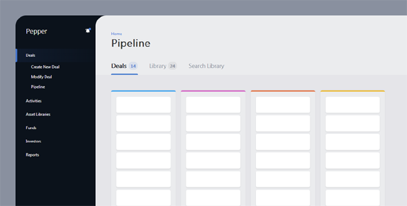 html+css扁平化后台界面样式