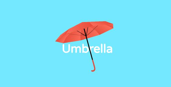 纯css3 3d雨伞旋转代码源码下载
