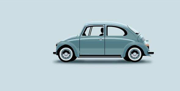 纯css绘制的复古汽车