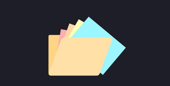 CSS3文件夹打开动画特效代码源码下载