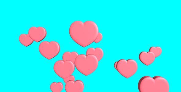 threejs爱心气球向上漂浮网页动画源码下载