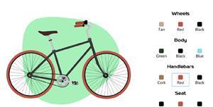 reactjs自定义单车外观特效