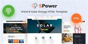 太阳能风能等新能源企业网站HTML模板