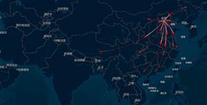 arcgis+echarts世界地图箭头流动图