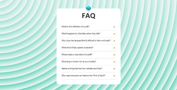js问答faq卡片样式代码