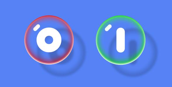 创意透明泡泡Toggle切换按钮样式源码下载