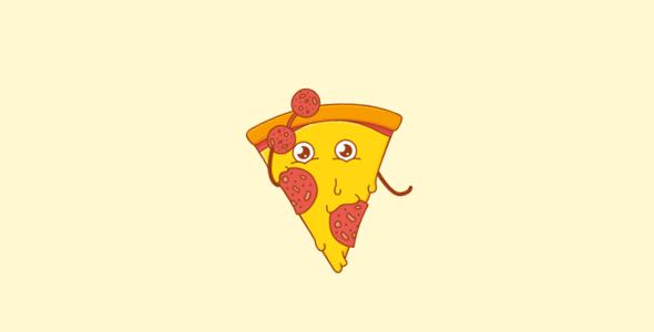 SVG+JS披萨卡通拟人动画特效
