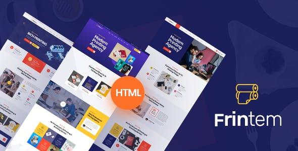 广告公司印刷业务网站HTML模板源码下载
