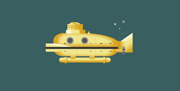 css代码绘制的潜水艇