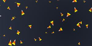 js三角碎屑动画网页代码