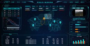 茶园监控大数据指挥舱HTML模板