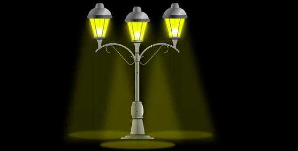 纯css3绘制的路灯带蚊虫动画效果源码下载