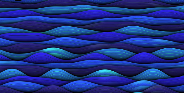 HTML5蓝色海洋波浪动画