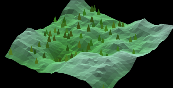 p5.js地形3d展示网页特效代码