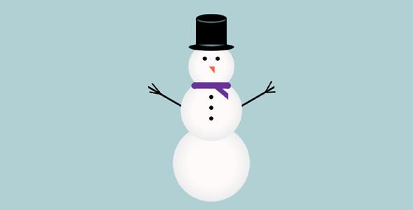 纯css绘制的雪人网页代码源码下载