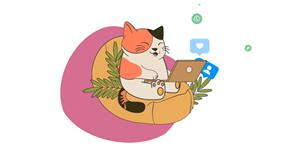 react小猫上网动画网页代码