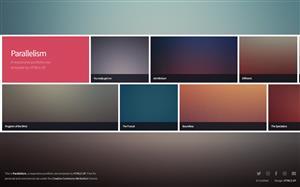 响应式HTML5艺术相框模版