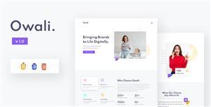 创意机构网页极简设计前端模板