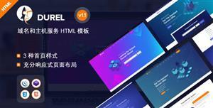 时尚炫酷云服务器和域名业务HTML模板