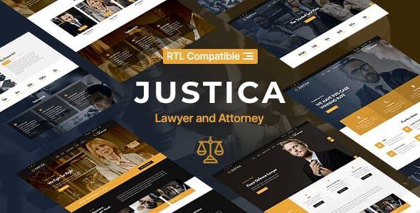 高端法律业务律师网站HTML5模板源码下载