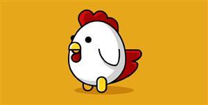 纯css代码卡通小公鸡代码