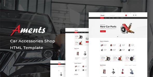 汽车零配件销售电子商务网站模板源码下载