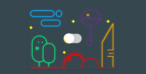 暗色和亮色背景Toggle切换特效