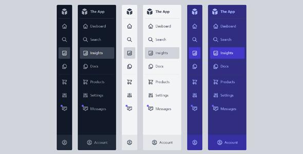 Tailwind样式App管理系统左侧菜单
