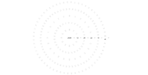 vuejs罗盘时间创意样式动画效果