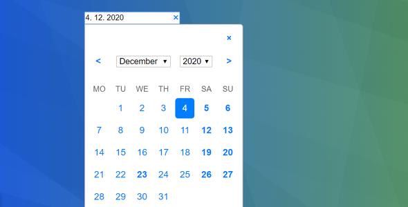 js简单日期选择插件源码下载