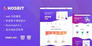 时尚紫色web主机服务器网站模板