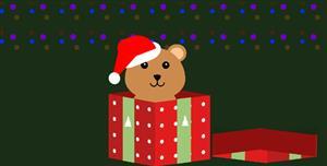 新年礼物盒打开css3动画特效代码