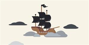 SVG空中海盗船动画特效代码