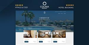 酒店展示网站在线预订HTML模板
